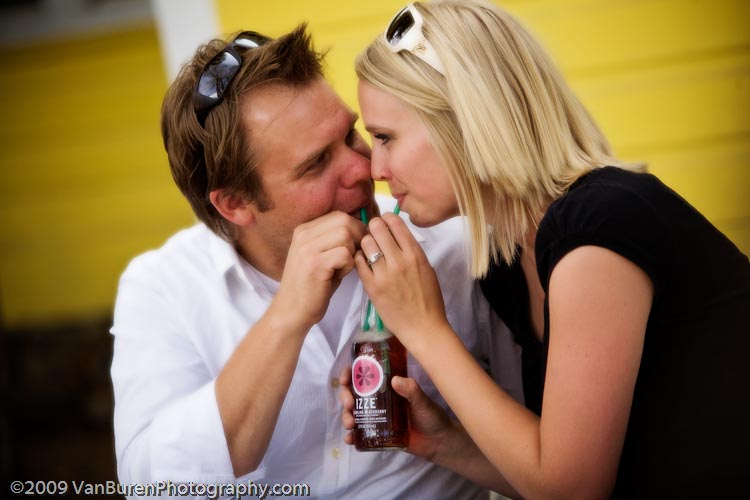 Cute couple cuddles during engagement session in Breckenridge